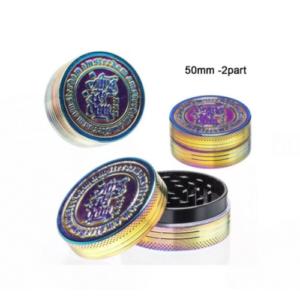 Grinder metalowy rainbow 2-częściowy 50mm
