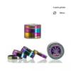 Grinder metalowy rainbow 4-częściowy 50mm